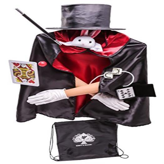 Toy Kids Deluxe 12Pc Magician Costume Set W Storage Bag Xmas Play Gift Mmp Liv