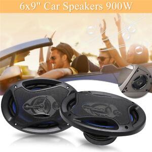 Details about 1800W 6x 9'' 4-Way HiFi Car Van Audio Coaxial Horn Speakers  Set Pair 2x4 !