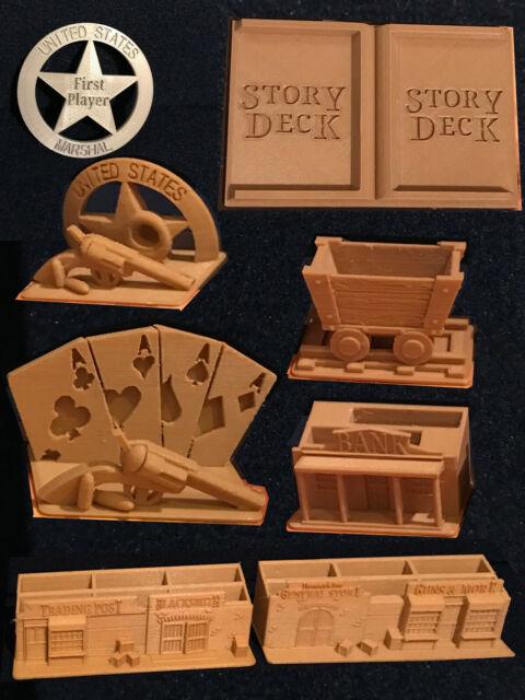 """3D /""""Model SET/"""" Brettspiel-Boardgame Western Legends"""