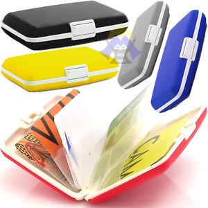 Porta-CARTE-di-CREDITO-Tessera-BANCOMAT-Portafoglio-SOLDI-Card-UOMO-Rigido-DURO