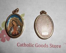 Our Lady of Guadalupe Italian 1 inch Gold Tone and Enameled - Medal