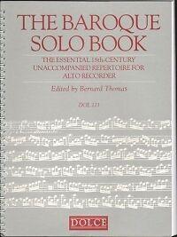 Baroque Solo Livre Thomas Enregistreur-afficher Le Titre D'origine Beau Lustre