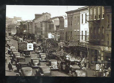 Real Photo Baltimore Maryland Downtown Street Scene Old Cars Postcard Copy Ebay