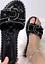Womens Ladies DIAMANTE BOW FLAT STUD SLIDERS SLIP ON MULES SUMMER SANDALS SHOES