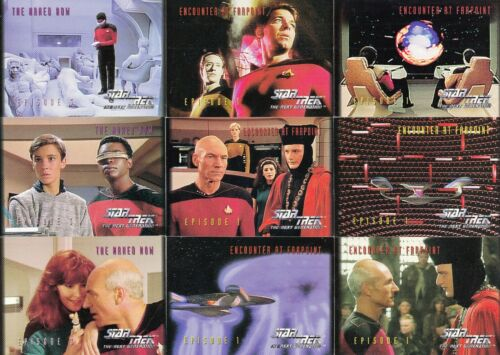 STAR TREK THE NEXT GENERATION SEASON 1 1994 SKYBOX COMPLETE BASE CARD SET OF 108
