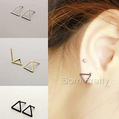 Hollow-out Simple Style Geometry Pattern Triangle Dangle Earrings Ear Studs