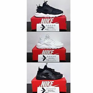 Nike-Air-Huarache-Run-Ultra-Triple-Total-Black-White-Nere-Bianche-Uomo-Donna