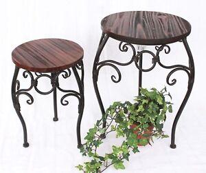 Tabouret-a-fleurs-hx12592-jardinieres-34-43-cm-ROND-COLONNE-DE-table-d-039-appoint