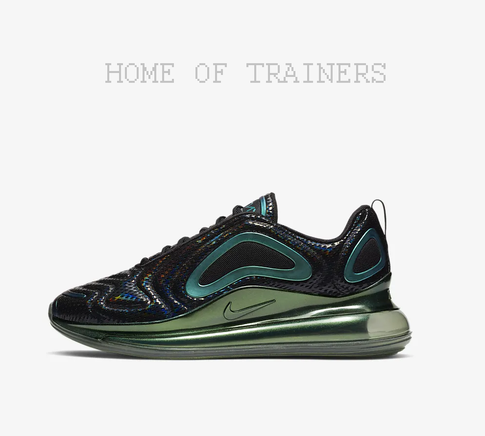 check out 8d660 675d9 Nike Air Max 720 Black Black Black Anthracite Laser Fuchsia Trainers All  Sizes e61ab3