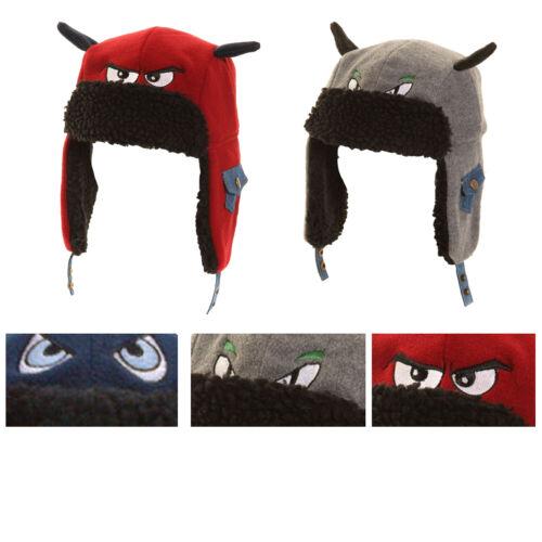 Boys Winter Thermal Novelty Fleece Trapper Hat with Fleece Trim