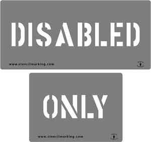 DISABLED-ONLY-STENCIL-1100mm-WIDE