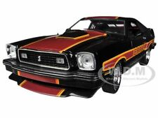 """1978 FORD MUSTANG COBRA II BLACK """"FREE WHEELIN"""" MOVIE 1/18 CAR GREENLIGHT 12891"""