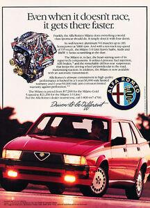 1990 Alfa Romeo Vintage Advertisement Ad P54