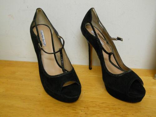 M Teen naaldhakken Shoes Womens New David Nwob Black Charles Open 9 Zp48q1S