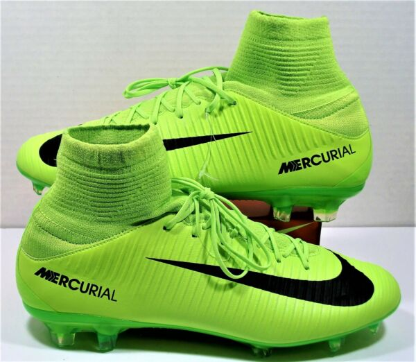 sports shoes 7c978 3c7b8 Nike Mercurial Veloce III DF FG Elec. Green Soccer Cleats Sz 9.5 NEW 831961  303