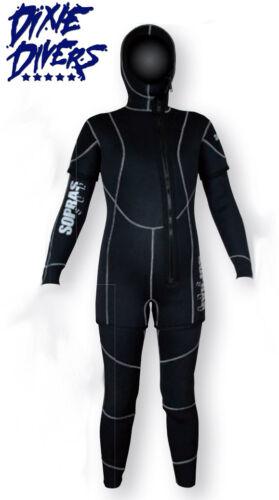 Sopras Sub NEW FREDDO LADY 5mm 2 Piece Hooded Wetsuit SCUBA DIVING SEMI DRY SUIT