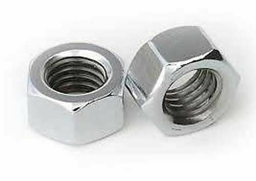 Hex nut plan Galvanised Steel White m3 m4 m5 m6 m8 m10 m12 Uni 5588