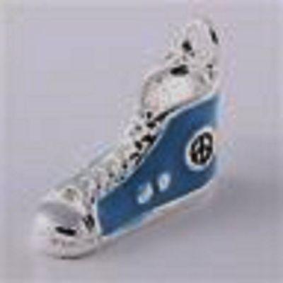Silver & Blue Zapatillas Zapatos Bota-Plata plate-clip-on encanto Para Pulseras-Nuevo