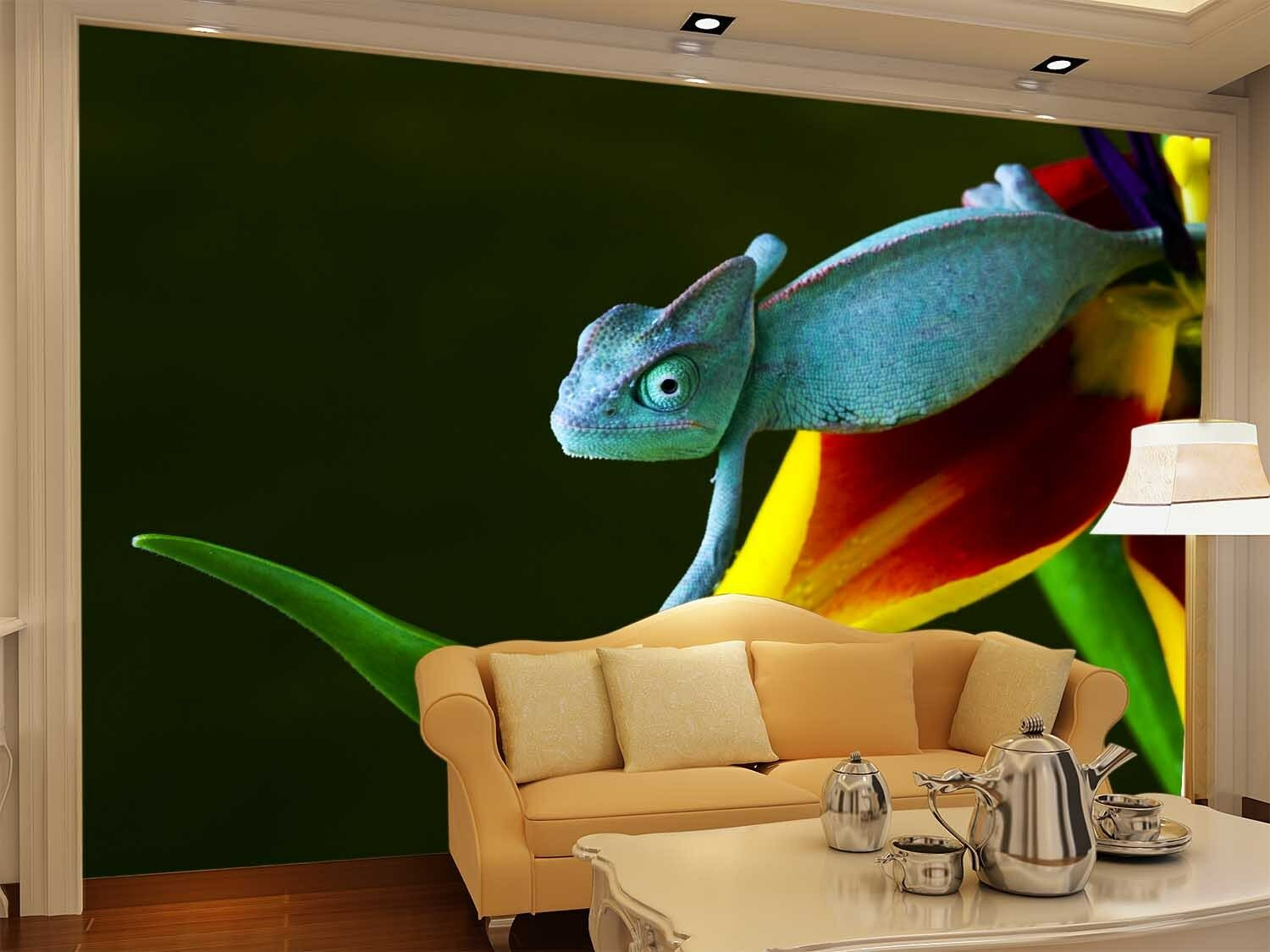 3D Blau Lizard Animals 1WallPaper Murals Wall Print Decal Decal Decal Wall Deco AJ WALLPAPER 02b304