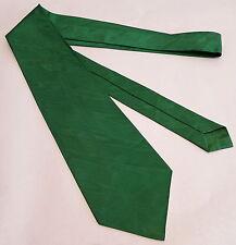 RETRO VINTAGE WATERED TAFFETA GREEN ENSIGN TIE NECKTIE 1970s