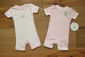 7d4cb1019518 Burt s Bees Baby Girl 2 Piece Romper Set ~ Pink   Ivory ~ Organic ...