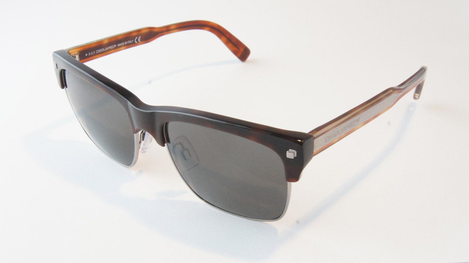 DSQUArot Sonnenbrille Sonnenbrille Sonnenbrille DQ0149S 52A Dark Havana Dark grau, Damen Herren, mit Etui | Grüne, neue Technologie  386bf4