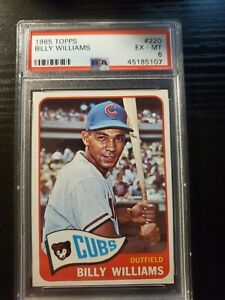 1965 Topps Billy Williams #220 Chicago Cubs PSA 6 EX-MT !! WOW!!