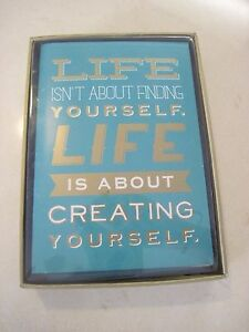 Note-Cards-Qty-10-034-Life-isn-039-t-about-finding-yourself-034-NEW