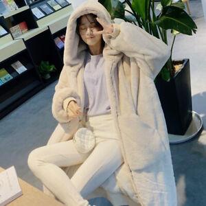 Women-Long-Faux-Mink-Fur-Coat-Fluffy-Hooded-Winter-Quilted-Thicken-Warm-Outwear