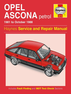 Haynes Workshop Manual Opel Ascona 1981-1988 Petrol Service /& Repair