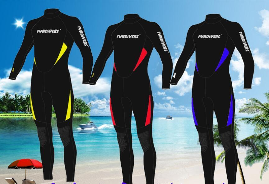Men 3mm Neoprene Scuba Diving Wetsuit Winter Swimming SurfingThermal Jumpsuit