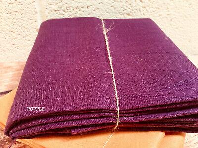 Soft Linen Fabric Material curtains dress decor material 140cm wide Plain Brown