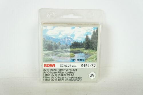 9151//37 für Kameras /& Objektive Rowi UV O-Haze Filter vergütet 37 x 0,75mm