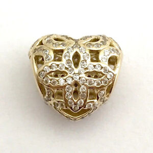 b47201b8b Image is loading Authentic-Pandora-Love-and-Appreciation-14K-Gold-Clear-