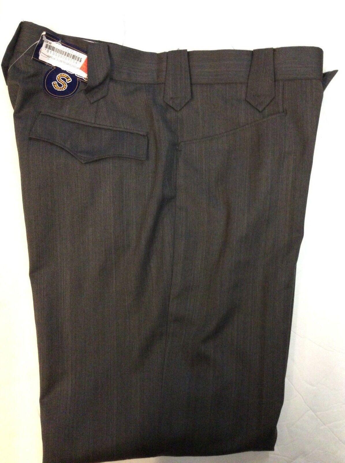 CIRCLE S MEN COWBOY GREY POLYESTER DRESS PANTS ..NO TAX SELL