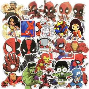 100Pcs-Pvc-Batman-Spiderman-Superman-Hulk-Marvel-Superheroe-Pegatinas-Adhesivas
