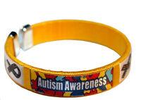 Autism Awareness Wristbands Alert Medical Bracelet Emergency Asd Cuff Gift Prize