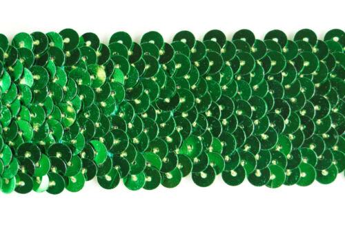 20 metros × 4 Cm de Ancho Verde Con Lentejuelas Elástico Tramo Ajuste