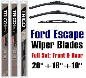 2005 2006 2007 Ford Escape Wiper Blades 3pk Front Rear