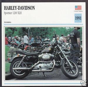 Image Is Loading 1991 Harley Davidson 1200cc XLH Sportster Bike Motorcycle