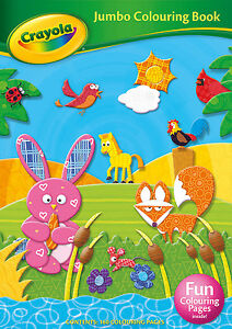 Image Is Loading Crayola Awesome Jumbo Colouring Book Children 039 S