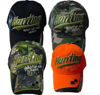Hunting shut Up And Hunt Camouflage Camo, Black & Orange Baseball Cap Hat