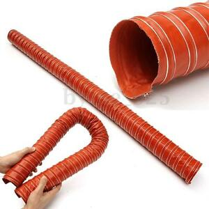 63mm Orange 2 Metres Silicone Ducting Flexible Hose Hot Or Cold Car Air Pipe