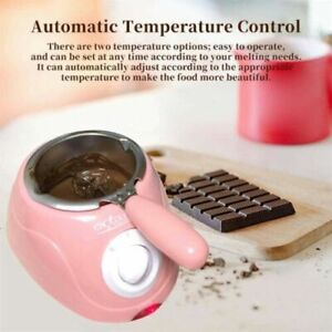 Fai DA TE CUCINA CIOCCOLATO Melting Pot Elettrico Fonduta Melter Macchina Set Rosa/Giallo