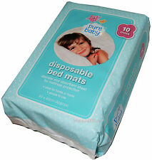 10 Disposable Bed Mats Baby, Child, Kids Mattress Protector Nappy Cot Wetting