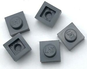 Lego-5-New-Dark-Bluish-Gray-Plates-1-x-1-Dot-Pieces