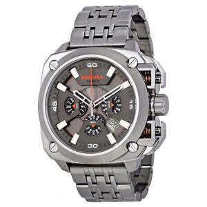 b90fad9bb0c Diesel DZ7344 BAMF Grey Dial Gunmetal Ion-plated Chronograph Men s ...