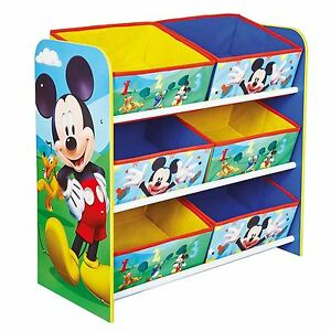 Image Is Loading MICKEY MOUSE ORGANISER STORAGE UNIT WITH 6 FABRIC