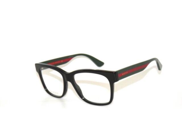 Gucci 0342O 004 56 Black Green Red Eyeglasses Unisex