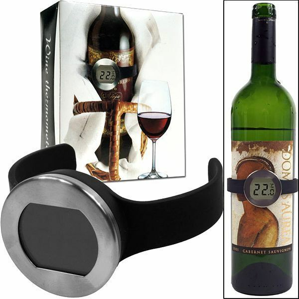 Digital LCD Wine Bottle Thermometer Watch Temperature Checker For Home Bar °C
